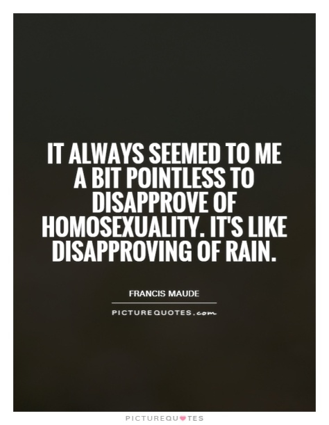 it-always-seemed-to-me-a-bit-pointless-to-disapprove-of-homosexuality-its-like-disapproving-of-rain-quote-1